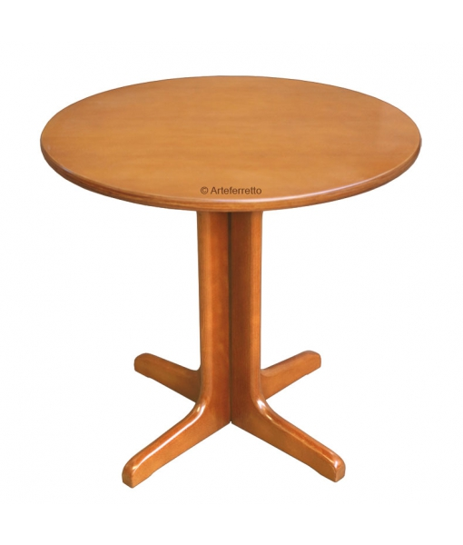 Table ronde 80 cm en hêtre massif