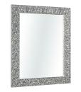 miroir, miroir argent, miroir rectangulaire argent, miroir made in italy