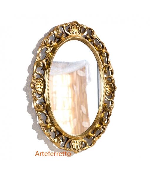 Miroir classique ovale en bois réf. DB-H127