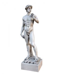 Sculpture sur bois - Inspiré du David de Michel-Ange, statuette david de michel-ange