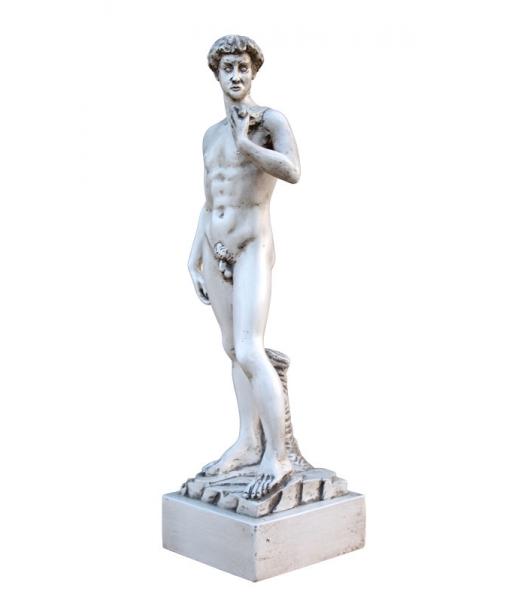 Sculpture sur bois - Inspiré du David de Michel-Ange réf. Dav-01