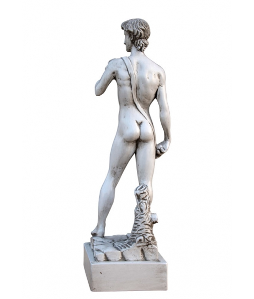 Sculpture sur bois - Inspiré du David de Michel-Ange, sculpture sur bois, petite sculpure david michel-ange, artisanat haut de gamme