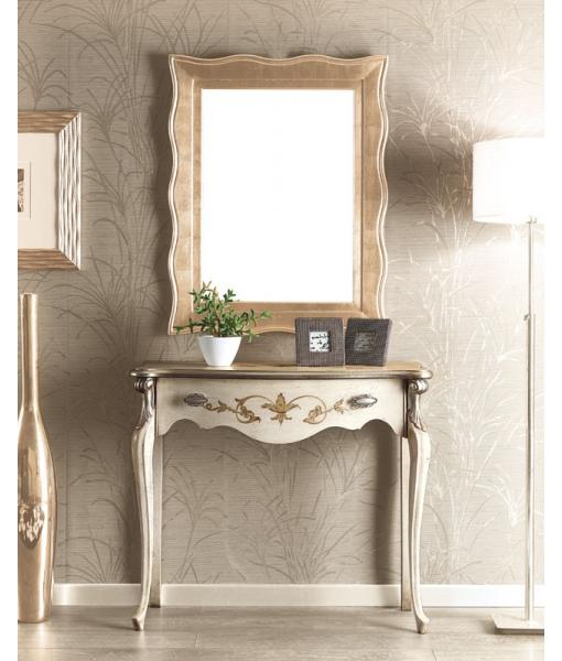console classique avec miroir, console hall d'entrée