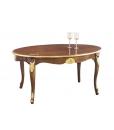 table ovale, table ovale 170 cm, table ovale style classique en bois 4 pieds, table à manger couleur bois