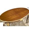 table ovale 170 prolongeable, table ovale de salle à manger 4 pieds avec dessus prolongeable