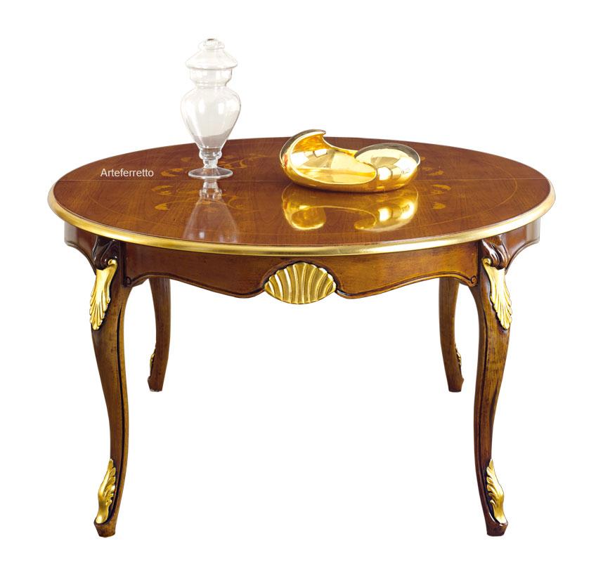 Marqueterie Et Feuille Ronde Extensible D'or Table Lamaisonplus vnyw0Nm8O