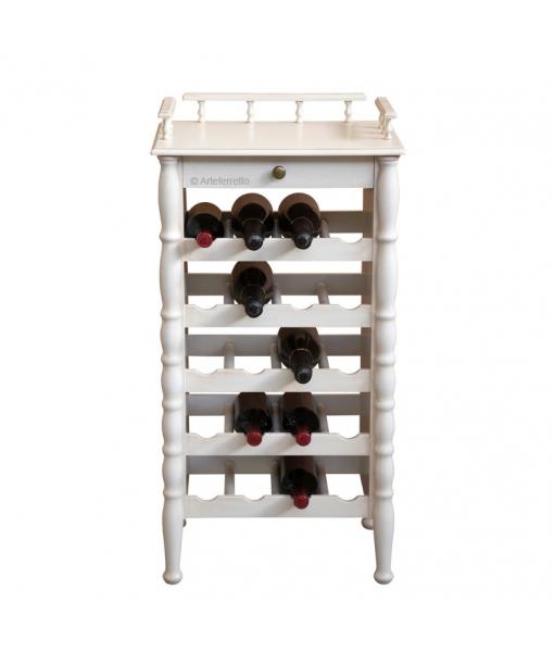 Meuble range bouteilles classique en bois laqué réf. ER-846-AV