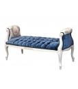 Banquette classique bout de lit tissu velours bleu réf. M-Rose-promo