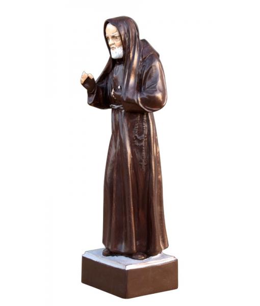 Statue en bois Saint Padre Pio réf. PPio-01
