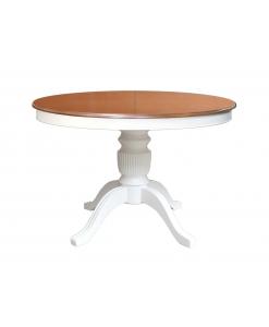 Table ronde à manger bicolore 110 cm diamètre
