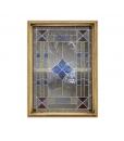 Meuble vaisselier vitrine années 30 réf. SM-45 - Particulier de la porte vitrée