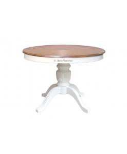 Table à manger extensible en bois bicolore 100 cm