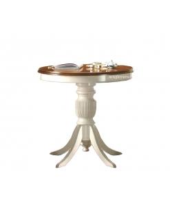 Table ronde bicolore 80 cm diamètre