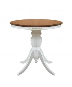 Table ronde bicolore plateau fixe, table de salon bicolore petite taille, Table ronde bicolore plateau fixe 80 cm, Table ronde bicolore plateau fixe 90 cm