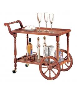 Chariot desserte cuisine en bois