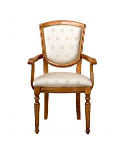 Chaise bout de table bois et tissu Masterstyl