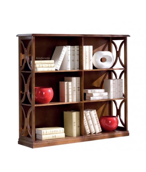 Bibliothèque basse en bois 130 cm largeur réf. B922-T
