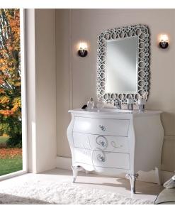 meuble vasque pour salle de bain, meuble vasque en bois laqué blanc, achat meuble vasque avec tiroirs
