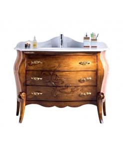 Meuble vasque salle de bain style classique, meuble salle de bain avec lavabo à encastrer