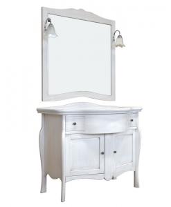 Meuble vasque avec miroir, meuble salle de bain avec lavabo en céramique, meuble de salle bain avec miroir