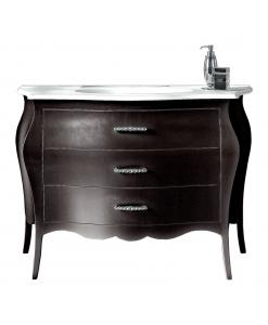 meuble vasque avec lavabo, meuble vasque noir 3 tiroirs, meuble pour salle de bain vasque et lavabo