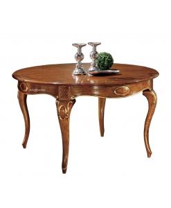 table ronde 140 cm style classique en bois, table ronde fabrication artisanale