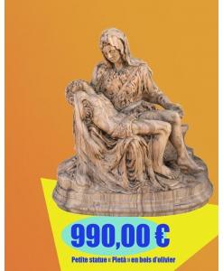 """PROMO ! Petite statue """"Pietà"""" en bois d'olivier réf. PIE-01"""