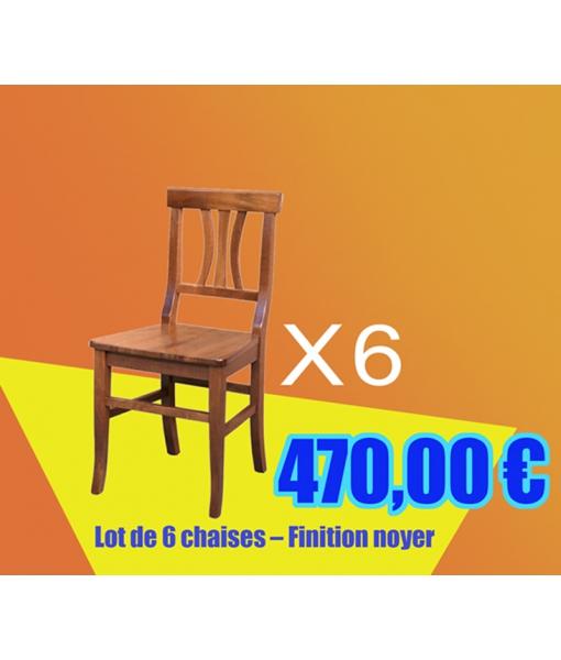 Lot de chaises en promotion