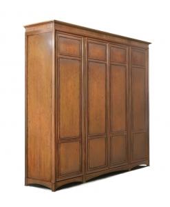 Armoire pour chambre 4 portes en bois