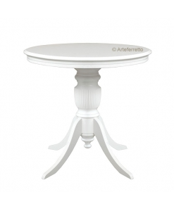 Table ronde plateau fixe, table ronde 80 cm, table ronde 90 cm, table ronde blanche