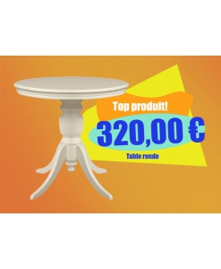 table en promotion, table ivoire, table ronde, achat table en promotion