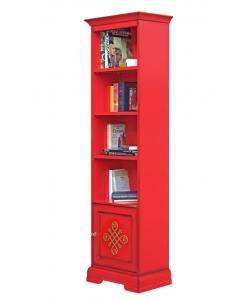 PROMO ! Bibliothèque étroite laquée rouge réf. 4089-red