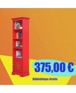 PROMO ! Bibliothèque étroite laquée rouge réf. 4089-red-promo