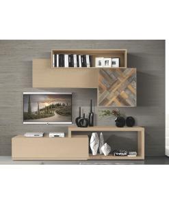 Meuble living modulaire, meuble living style contemporain, meuble composable entier pour séjour