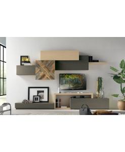 meuble composable pour salon style moderne, composition design aménagement salon, meuble modulaire pour salon