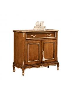 Meuble buffet bahut style classique, bahut petite taille, meuble buffet style classique en bois, meuble buffet largeur 90 cm