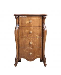 Petit meuble à tiroirs style classique marqueté
