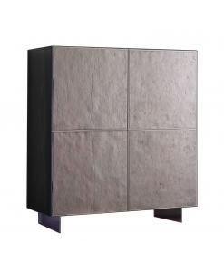 Buffet bahut 4 portes motif pierre naturelle