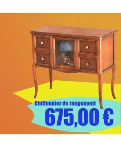 chiffonnier style classique pour salon, meuble chiffonnier en promotion, meuble chiffonnier bas prix