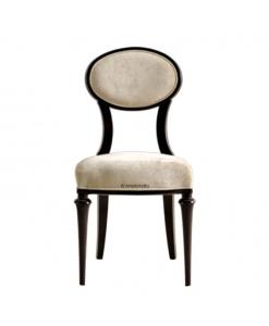 Chaise originale, chaise médaillon, chaise bois et tissu, chaise salon