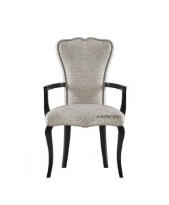 Chaise avec accoudoirs, chaise bout de table, chaise salon, chaise style classique