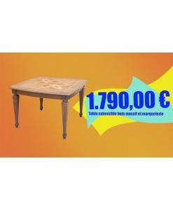 table prolongeable pour cuisine, table de repas, achat table en promotion, table salle à manger en bois