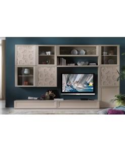 composition murale pour salon, meuble mural modulaire, meuble composable pour salon style moderne, meuble contemporain