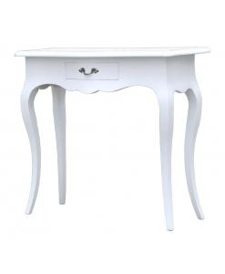 Table console d'entrée blanche avec tiroir