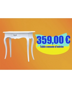 console, console blanche, table console hall d'entrée, meuble console bas prix, meuble console blanche en promotion