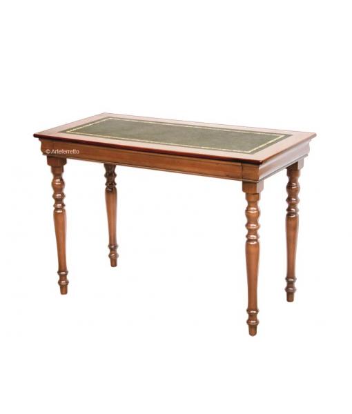 bureau, bureau louis philippe, bureau classique avec tiroir, bureau en bois, bureau dessus en cuir