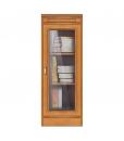 Petit meuble porte vitrée, vitrine petite taille, meuble de rangement 1 porte vitrée