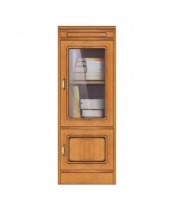 Meuble vitrine 2 portes petite taille, meuble de rangement petite taille en bois