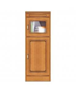 Meuble étroit 2 portes, meuble modulaire de petite taille multifonction