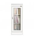 Petit meuble porte vitrée, meuble de rangemet blanc porte vitrée style classique